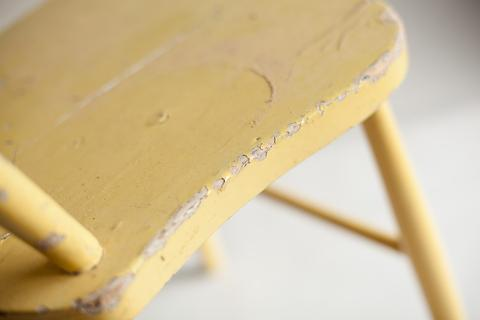 chipping paint on a chair