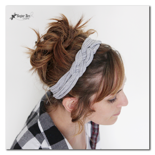 knotted headband with tee shirt yarn