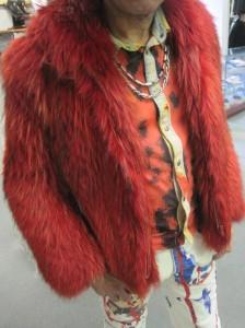 vintage designer fur coat for men