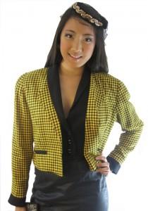 yellow and black houndstooth jacket by sammy davis vintage