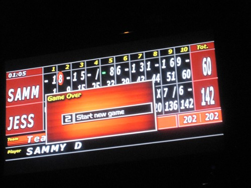 scoreboard at brooklyn bowl