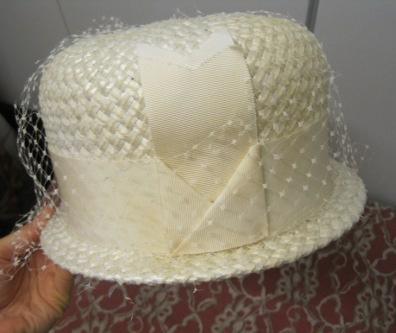 white lace vintage wicker hat