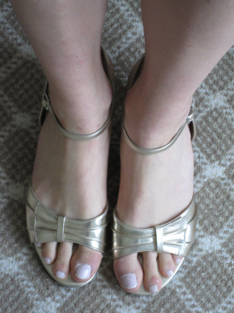 payless shoes for bridesmaid dress