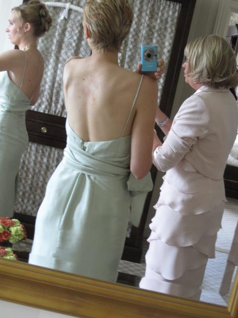 back of jenny yoo bridesmaid dress
