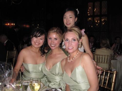 bridesmaids wearing jenny yoo
