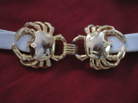 vintage crab belt buckle