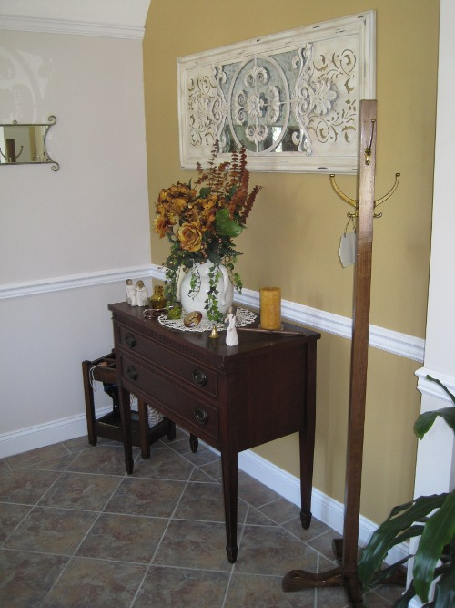 foyer decorated with vintage