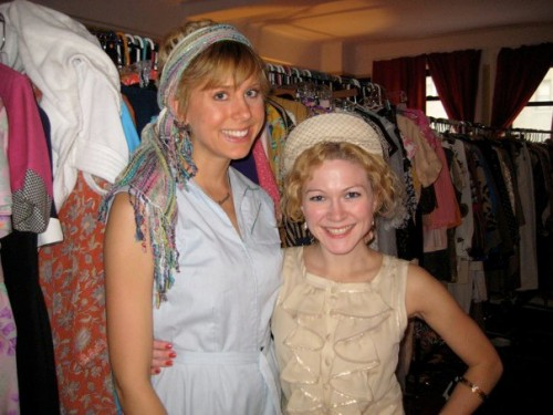 stephanie cain wearing sammy davis vintage