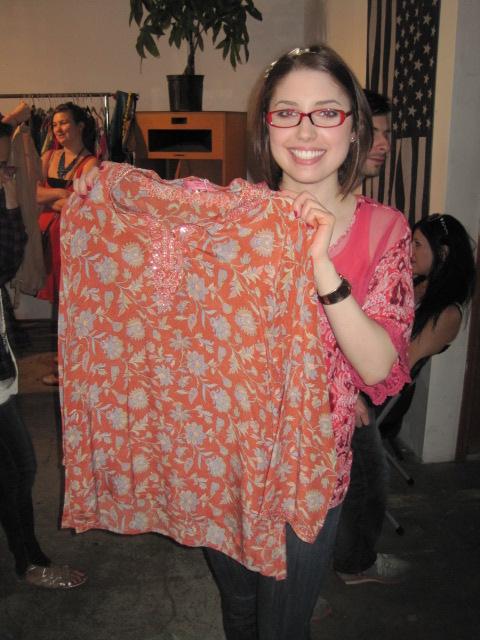 katie with sammy davis vintage tunic