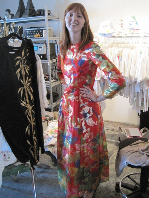 meredith of cubicle chic wearing sammy davis vintage