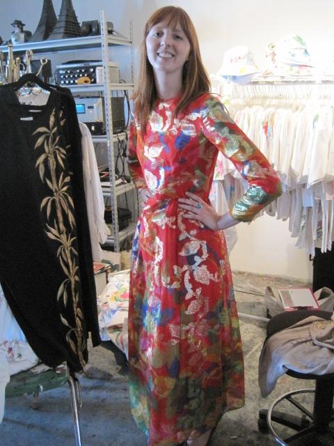 meredith of cubicle chic wearing sammy davis vintage