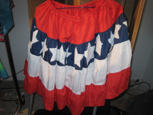 american themed patriotic vintage skirt
