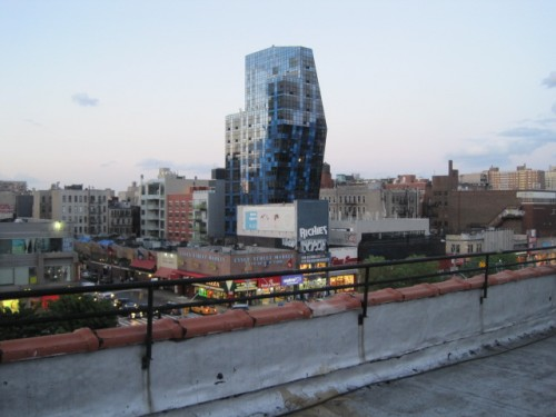 view of lower east side apartment roof