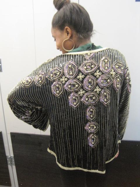 samantha smikle wearing sammy davis vintage