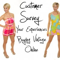 customer survey: your experiences buying vintage online