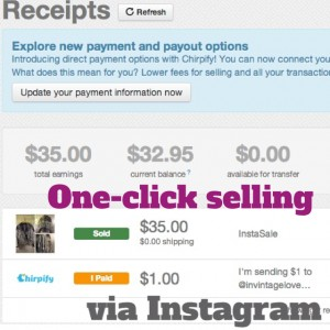 how to sell on instagram via chirpify