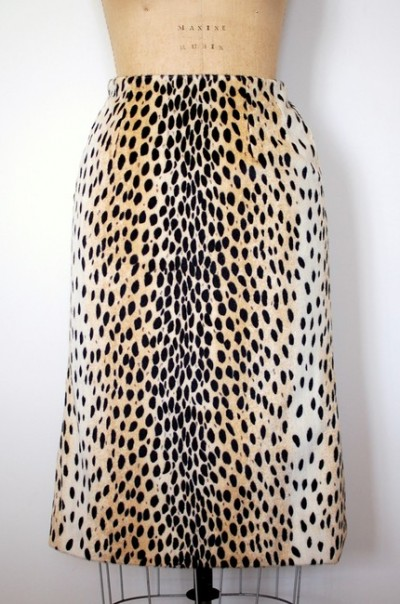 vintage cheetah skirt