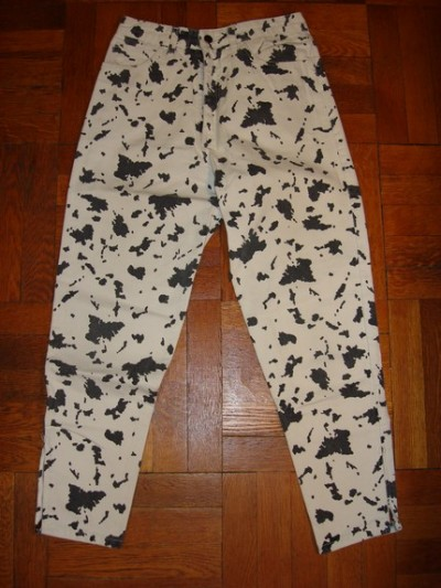vintage cow print pants for Guess