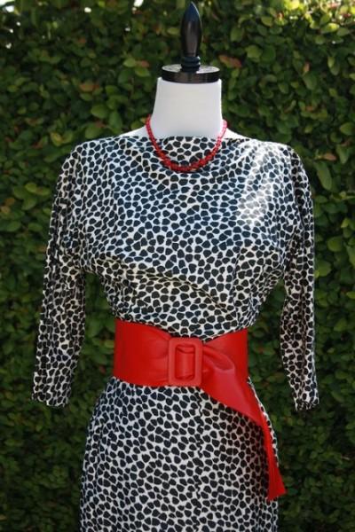 vintage dalmatian dress