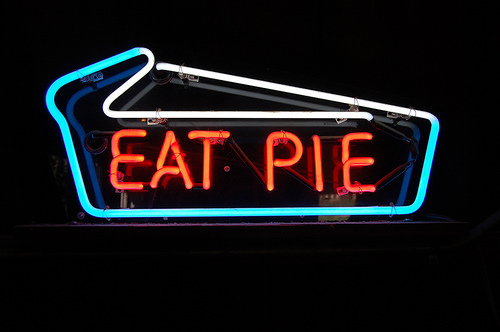 eat pie sign