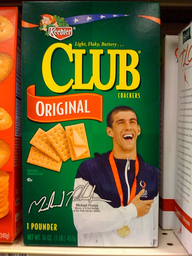 michael phelps cracker box