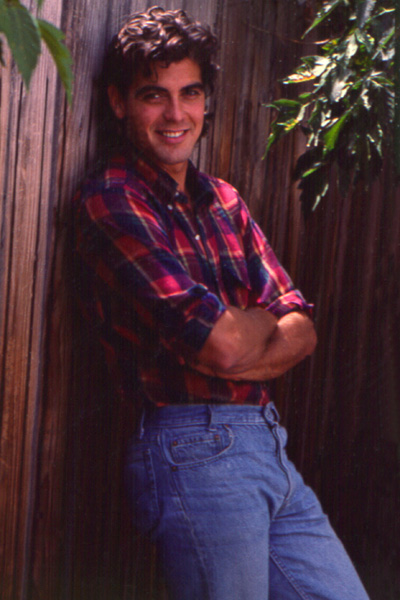 george clooney in flannel