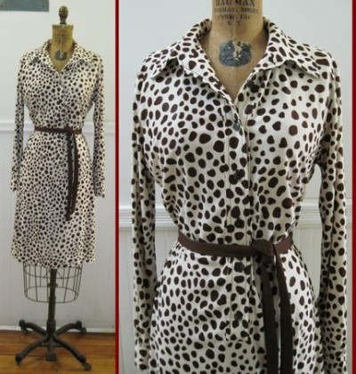 vintage giraffe dress