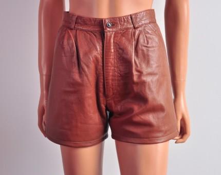 leather vintage shorts