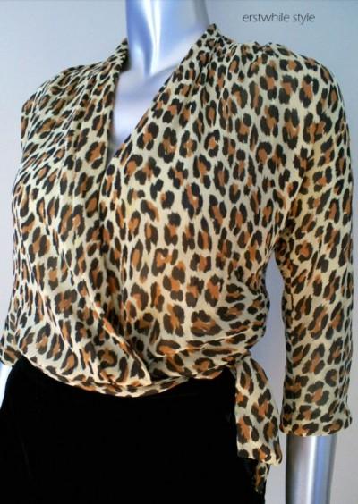 leopard vintage top