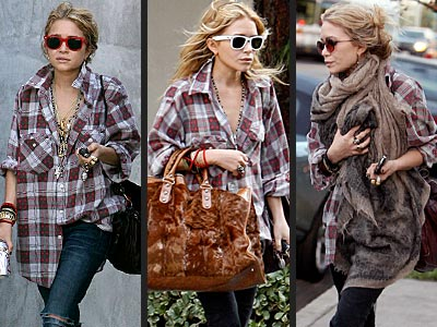 mary kate wearing flannel