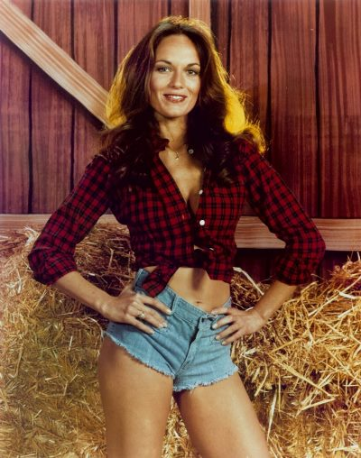 cowgirl wearing flannel