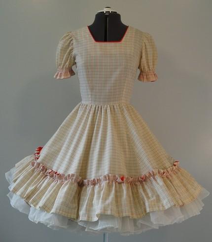 plaid prairie dress