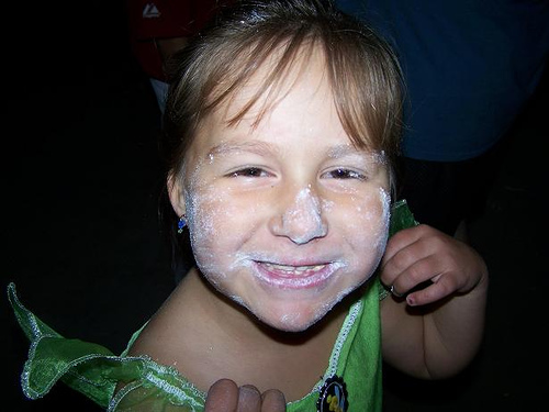 powdered face