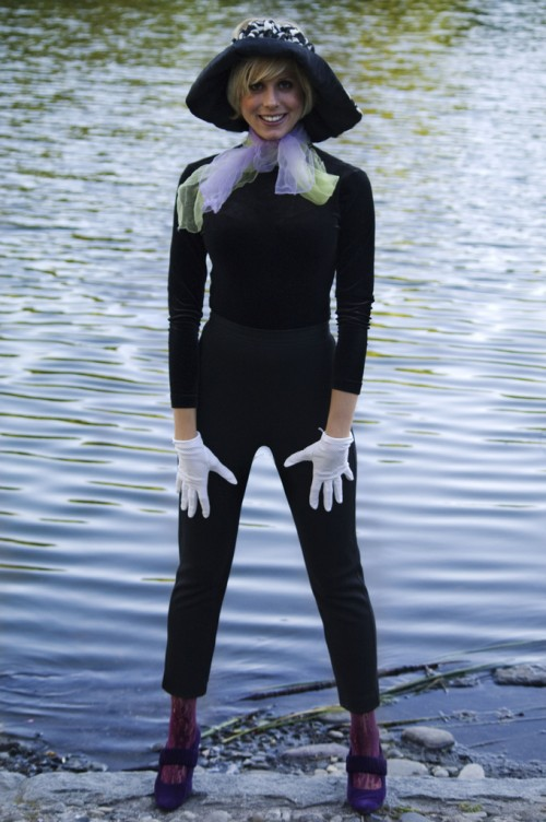 girl wearing menswear