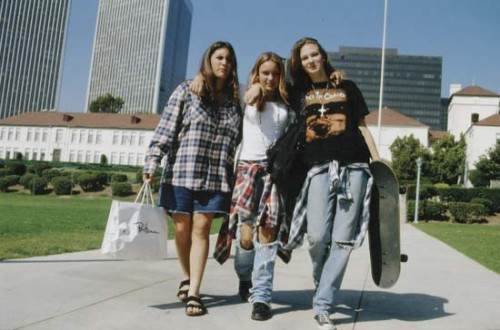 skaters wearing flannel