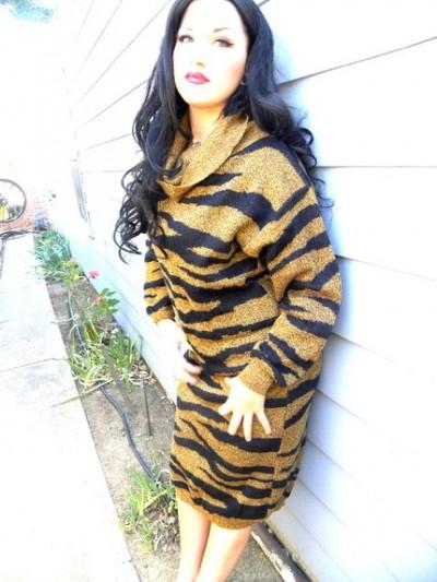 vintage tiger print dress