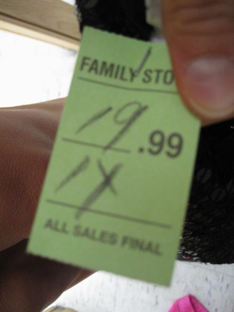 Salvation Army Price Tag