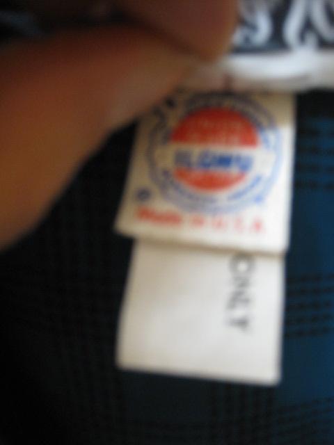 Union Tag of Vintage Dress