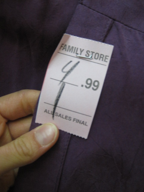 Salvation Army Price Tag