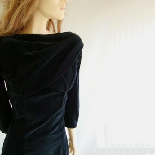 vintage black wiggle dress etsy