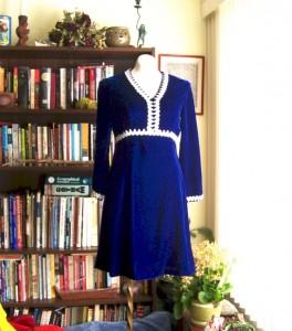 blue vintage dress etsy