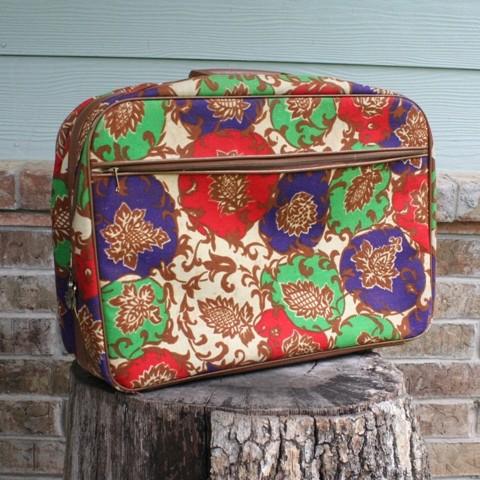 Floral 70s Suitcase Etsy