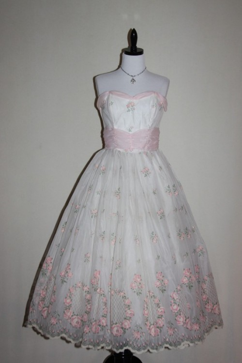 floral vintage wedding dress