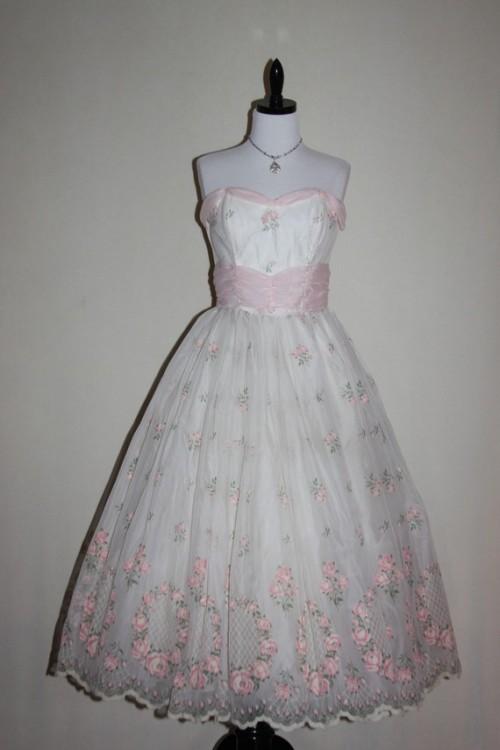 floral vintage wedding dress