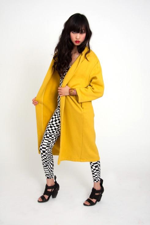 vintage coat bright