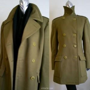 vintage military wool coat