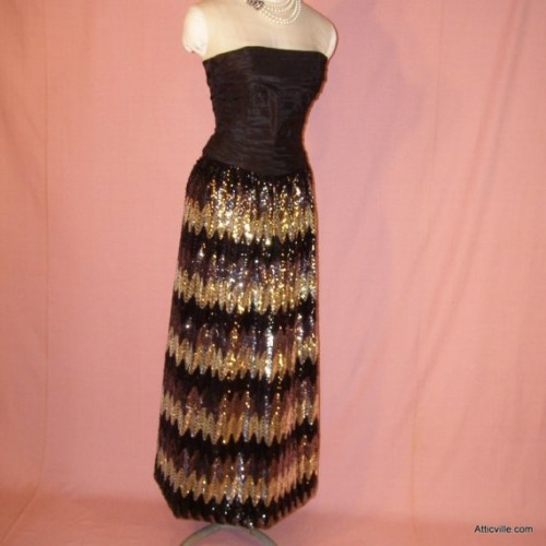 Vintage Sequin Skirt Etsy