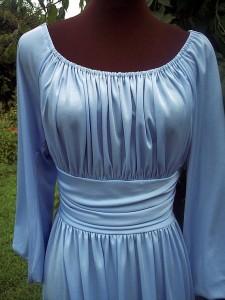 vintage 70s blue disco dress etsy