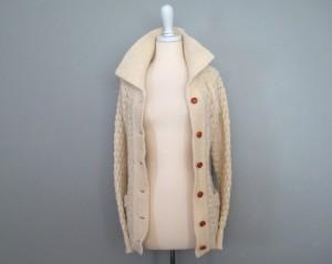 vintage handknit fisherman sweater etsy