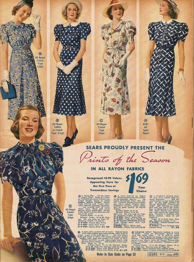 1930s vintage dresses advertisement